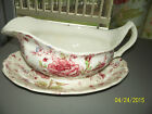JOHNSON BROTHERS  Red Marked Gravy for ROSE CHINTZ China