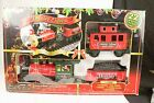 Vintage Holiday Express Christmas 22 Piece Train Set 2010 Scientific Toys In Box