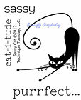 SASSY CAT Small Stamp Set Clear Unmounted Rubber Stamps TECHNIQUE TUESDAY New