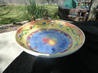Sango Sangria Fruit Red Green Yellow Blue Purple Embossed Pasta Serving Bowl