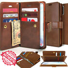 For Samsung Galaxy Note 8 S8 S7 Dual Shockproof Flip Wallet leather Case Cover