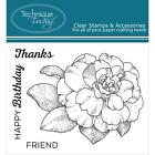 CAMELLIA FLOWERS Stamp Set Clear Unmounted Rubber Stamps TECHNIQUE TUESDAY New