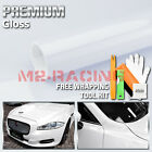 Gloss Glossy White Vinyl Car Wrap Sticker Decal Bubble Free Air Release Film