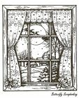 Night Before Christmas Window Wood Mounted Rubber Stamp NORTHWOODS NEW P9670