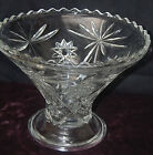 Vintage Anchor Hocking EAPC Star of David Punch Bowl Stand / Pedestal [S6076]