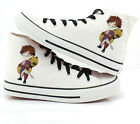 COS Naruto Gaara uchiha madara Printed Canvas Shoes High Top plimsolls Sneakers