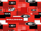 University Of Georgia Cotton Fabric-georgia Bulldogs Fabric-all Patterns