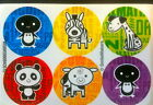 60 Zoo Animal Dot Stickers Party Favor Teacher Supply