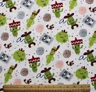SNUGGLE FLANNEL SOUTHWEST SAGUARO  BARREL CACTUS on WHITE 100 Cotton NEW BTY
