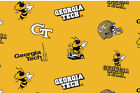 Georgia Tech Fleece Fabric-georgia Tech Yellow Jackets Fleece-all Patterns