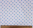SNUGGLE FLANNEL  3 16 BLUE DOTS on WHITE 100 Cotton NEW BTY