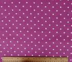 SNUGGLE FLANNEL  3 16 WHITE DOTS on PURPLE  100 Cotton NEW BTY