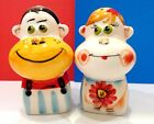 Porcelain figurines salt and pepper boy and girl Russia hand painted cookware