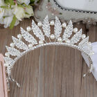 Vintage Wedding Bridal Crystal Headband Crown Tiara Hair Accessories Silver Prom