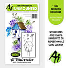 Birdhouse WATERCOLOR Unmounted Rubber Stamp Set ART IMPRESSIONS NEW 4603