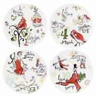 Lenox 12 Days of Christmas Dessert Plates Set of 4 Salad Appetizers 8 inches