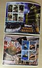2 Madagascar RMS TITANIC Sheets, Rescue-6 Stamp Block & Period Postcard 4 Stamps