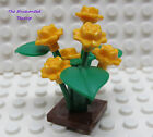 Lego Plant Flowers Rose Bush Orange Friends New