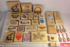 33 Rubber Stamps: Travel Butterfly Grapes Hearts Judith H. Easter X-Mas To/From