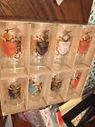 FEDERAL GLASS BLOWN GLASSES TUMBLERS CAMELOT COAT OF ARMS MID-CENTURY QTY 8 NIB
