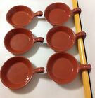 6 Rare Portuguese Red Clay Pottery Dishes W/ Loop Handle 8