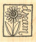 Dream Flower Text Wood Mounted Rubber Stamp IMPRESSION OBSESSION NEW C19098