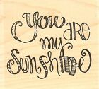 You Are My Sunshine Wood Mounted Rubber Stamp IMPRESSION OBSESSION D19120 New