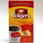 Folger's Classic Roast INSTANT Coffee crystals singles hot drink mix 7 singles