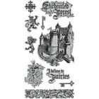 Enchanted Forest 1 Unmounted Cling Rubber Stamp Set Graphic 45 IC0356 New
