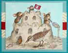 Sand Castle Mice HOUSE MOUSE Wood Mounted Rubber Stamp STAMPENDOUS NEW HMR65