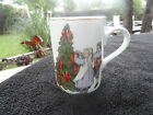 Fitz & Floyd Deck the Halls Children Decorating Tree Birds Gold Rim White Mug