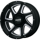 18x9 Black Milled Moto Metal MO976 Wheels 5x55 12 Lifted CHEVROLET TRACKER