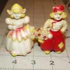 Pepper Shakers - Plastic smaller Dutch boy and girl ~ c819
