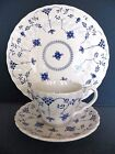YORKTOWN by Salem China BLUE LACE Dinner Plate Cup Saucer Olde Staffordshire 3PC