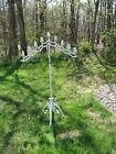 Vintage Adjustable Wrought Iron Floor Candelabra Candle Stand Wedding- Gothic