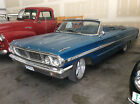 Ford Galaxie Two Door Convertible 1964 blue ford galaxie 500 convertible