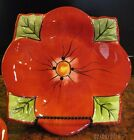 4 Toluca Tabletops Unlimited Floral Shaped Dessert/Salad Plates 8