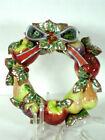 Fitz & Floyd Classics Enchanted Holiday Hanging Fruit Wreath 10.5