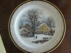 LENOX CURRIER AND IVES WINTER IN THE COUNTRY 4TH 1997 A COLD MORNING