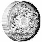 Tuvalu 2016 Ancient Chinese Mythical Creatures 2 2 Oz Silver Antiqued Antique