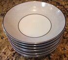 Noritake DAMASK 5698 Fruit Berry Bowls Platinum Trim 8 Total Excellent Condition