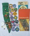 Girl Scout Sash Badges Books Pins 1970s and 1980s