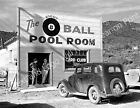 1940 Shasta Cty CA Pool Hall Vintage Photograph 85 x 11 Repro Billiards