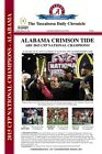 2015 CFP NATIONAL CHAMPIONS ALABAMA CRIMSON TIDE HEADLINES POSTER 12