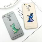 Cute Cartoon Dinosaur Stitch Soft TPU+Hard PC Case for iPhone X 5 se 6S 7 8 Plus