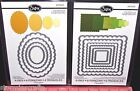 Framelits Sizzix Scallop Dies Cut Emboss Stencil Square Designs or Oval Shapes