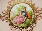 Lefton China Hand Painted Victorian Couple Trinket Dish #1544-Gold