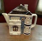 Vintage OTAGIRI Small Teapot Tea Pot W/ Lid VICTORIAN Cottage House Hand Painted