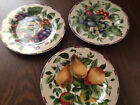 Oneida Sakura Sonoma SALAD PLATES Dessert Fruit Grape Plum Pears EXCEL Vtg Lot 3
