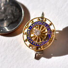 ANTIQUE Diamond  14K Gold DAUGHTERS of the AMERICAN REVOLUTION Small PIN 2g